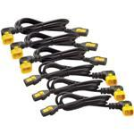 Power Cord Kit (6 ea), Locking, C13 to C14 (90 Degree)/ 1.2m