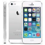 iPhone 5 4G 32GB 4in iOS White - Renewed with 2 yr Warranty, cable & adapter