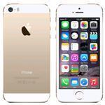iPhone 5S 4G 32GB 4in iOS Gold - Renewed with 2 yr Warranty, cable & adapter
