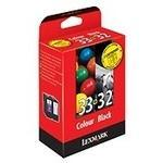 Ink Cartridge #32 #33 Black And Tri-colour Standard Capacity Black: 15.6ml: Colour: 11.5ml Black: