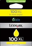 100xl Ink Cartridge Yellow High Capacity 600 Pages Blister No Alarm