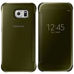 Galaxy S6 Flat Clear View Cover Gold