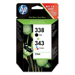 Ink Cartridge No 338/343 Combo Pack Blister
