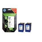 Ink Cartridge No 57 (2 Pack) 3-clr 17ml Blister