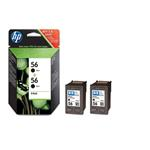 Ink Cartridge No 56 ( 2 Pack ) Black 19ml Blister