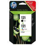 Ink Cartridge No 121 2-pack Black/Tri-color