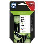 Ink Cartridge No 62 B/C/M/Y Combo 2-Pack