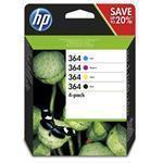 Ink Cartridge No 364 B/C/M/Y Combo 4-Pack