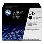 Toner Cartridge 51X 2-pack High Yield Black