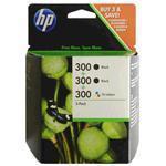 Ink Cartridge 300 3-pack, 2xblack + Color