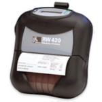 Mobile Label Printer Rw420 Print Station Wired With Magnetic Card Reader