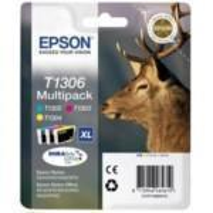 Ink Cartridge Multipack 3col.t1306 Ink Easymail Durabrite Ultra Cy Y Mg Xl