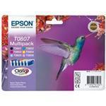 Ink Cartridge Hummingbird Inks Lc,lm,c,m,y,k Multipack (t0807) Blister Pack With Rf+am Tag