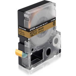 Tape Lc-4kbm9 - Metallic Black On Gold 12mm