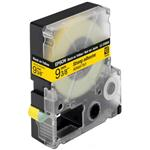 Tape Lc-3ybw9 - Strong Adhesive Black On Yellow 9mm