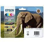 Ink Cartridge 24s Elephant Multi 6clrs Rf+am