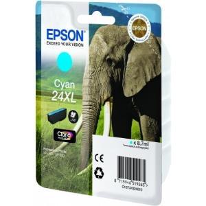 Ink Cartridge 24xl Elephant Cyan Rf+am