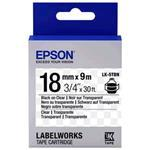 Epson Label Cartridge Transparent Lk-5tbn Black/transparent 18mm (9m)