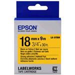 Epson Label Cartridge Strong Adhesive Lk-5ybw Black/yellow 18mm (9m)