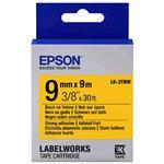 Epson Label Cartridge Strong Adhesive Lk-3ybw Black/yellow 9mm (9m)
