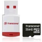Transcend Micro sdhc 32GB Class 10 With P3 Card Reader