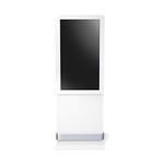 White Indoor 55 Double Totem Cabinet