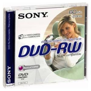 Dvd-rw Media Mini 2.8GB Double Sided 8cm 3pk Blister