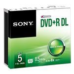 Dvd+r Media Dual Layer Slim Case 5pack