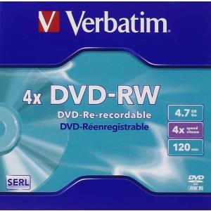 Dvd-rw Media 4.7GB 4x 5-pk With Jewel Case