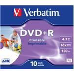 DVD+r Media 4.7GB 16x Photo Printable 10-pk With Jewel Case