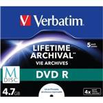 M-disc DVDr 4.7GB Inkjet Printable 5-pk