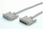 Cable Serial/ Parallel Straight Through Db25m/ Db25f 3m