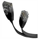 Patch Cable/ Flat Category 5e Utp 1.8m Black