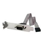 Slot Plate Adapter 9 Pin Serial To 10 Pin Idc Header Low Profile