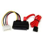 Right Angle SATA Cable With Lp4 Adapter 18in