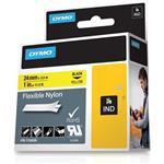Flexible Nylon Label Yellow Rhino 1in