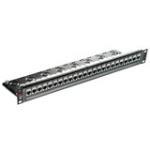 24 Port Powercat 6a Shielded Patch Panel 568a/b 1u
