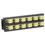 24 Port Swing-out Fibre Panel Front Plate Shuttered Lc Mm