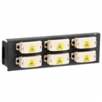 12 Port Swing-out Fibre Panel Front Plate Shuttered Duplex Sc Mm