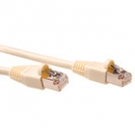 Cat5e S-ftp Patch Cable Ivory With Ivory Boots 0.5m