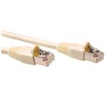 Cat5e S-ftp Patch Cable Ivory With Ivory Boots 7m