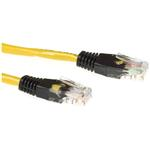 Cat5e Utp Cross-over Patch Cable Yellow With Black 2m
