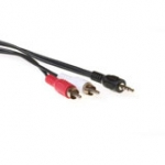 Converter Cable 3.5 Mm Jack Male - 2x Rca Male 2.5m