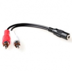 3.5 Mm Stereo Jack Connection Female - 2x Tulp Male