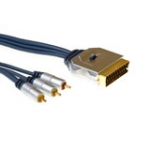 High Quality Converter Cable Scart Male - 3x Rca Male