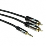 High Quality Audio Connection Cable 1x 3.5mm Stereo Jack Male - 2x Rca Male 5m