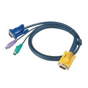 KVM Cable Ps/2 Spdb 15m To Hdsub 15m - 2x Minidin 6 M/m - 2m