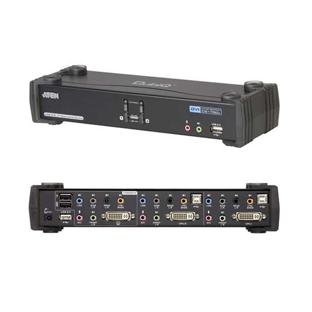 KVMp Switch 2-port USB DVI Dual Link