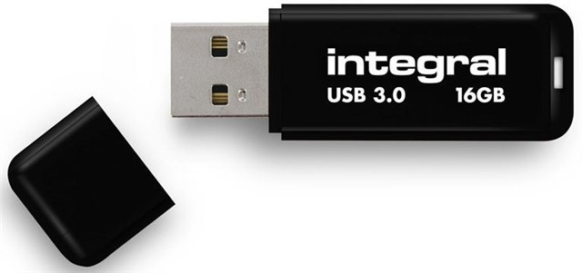 Integral USB 3.0 Flash Drive 16GB Black