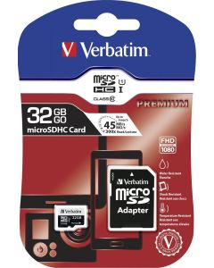Verbatim Premium 32GB MicroSDHC Class 10 memory card